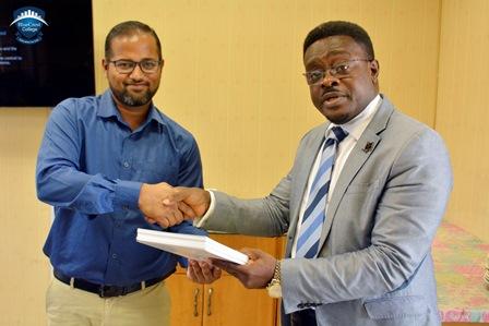 CERTIFICATE PRESENTATION TO GHANA BROADCASTING CORPORATION